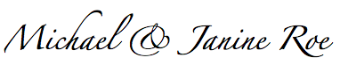 Michael and Janine Signature